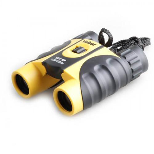 Бинокль Veber WP 10×25 черный/желтый