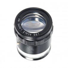 Лупа измерительная Veber 10x, 25 мм, с подсветкой (MG7173)