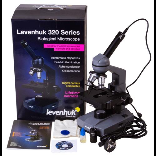 Микроскоп цифровой Levenhuk D320L BASE, 3 Мпикс, монокулярный