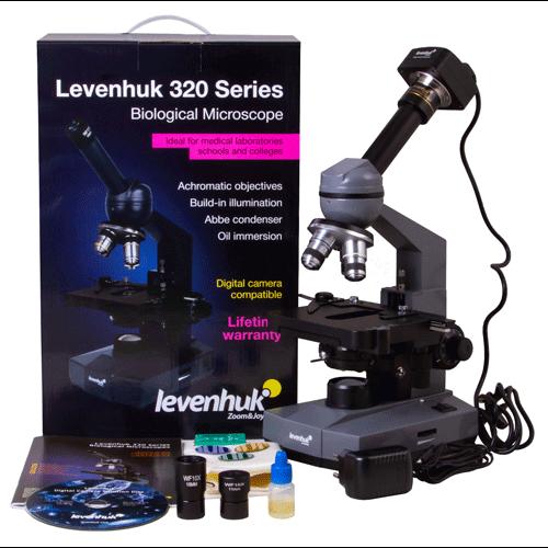 Микроскоп цифровой Levenhuk D320L PLUS, 3,1 Мпикс, монокулярный