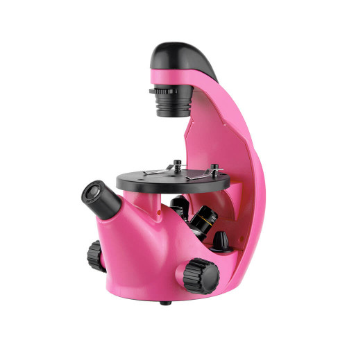 Микроскоп школьный Эврика 40х-320х инвертированный, фуксия