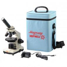 Микроскоп школьный Микромед Эврика 40х-1280х в кейсе