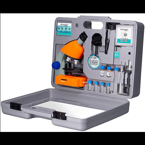 Микроскоп Bresser Junior 40–640x с набором для опытов, в кейсе